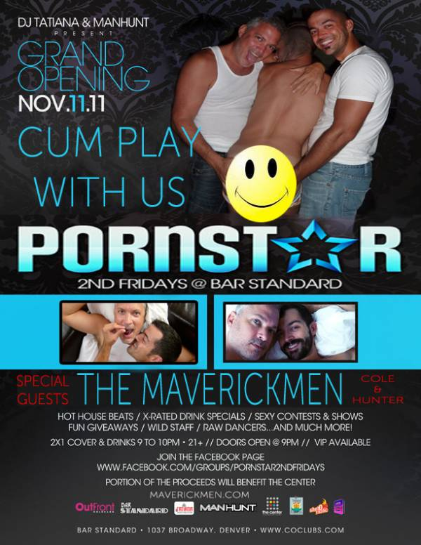 We are so psyched to be co-hosting the grand opening of Bar Standard's – Porn  Star 2nd Fridays, in Denver. On Friday, November 11, we'll be co-hosting a  boy ...